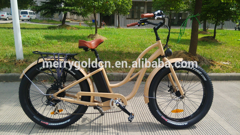 2016 New Women S Fat Tires Electric Bikes With Step Through Frame And 500w Power Engine Buy