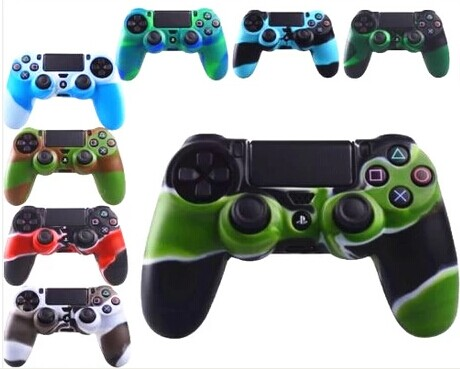 Camouflage Color Skin Silicone Gel Rubber Cover for PS4 Controller Silicone Case