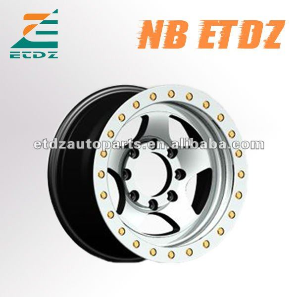 Popular 4x4 suv immitation beadlock alloy wheel for jeep