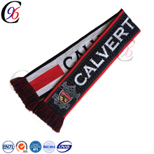 custom factory china winter soccer fan embroidery logo micro polar fleece football scarf