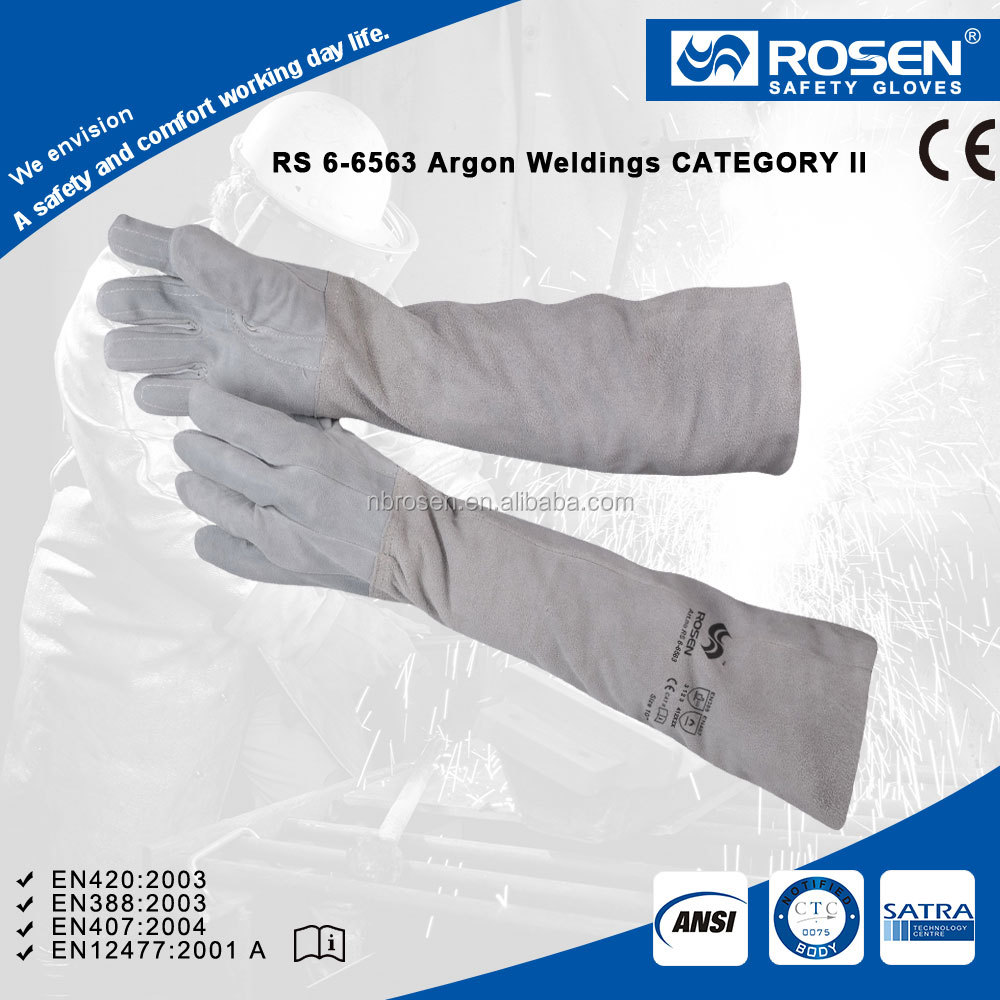 Rs Safety Full Grain Leather Welding Gloves In Longer Protective ...