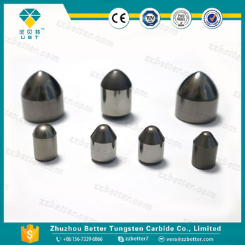 Cemented carbide buttons for drill bits