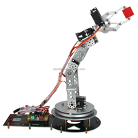 AS-6 DOF Aluminium Robotic Arm Educational Robot with Electric Control Arduino Robot Arm Kit