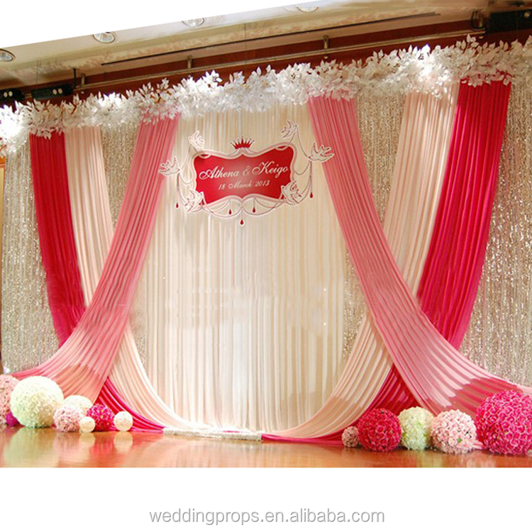 Used Wedding Backdrop Curtains: Used Wedding Stand Backdrop Curtains