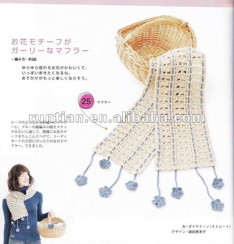 Linda Primavera Bufanda Niñas Crochet Diseño - Buy 2012 Primavera ...