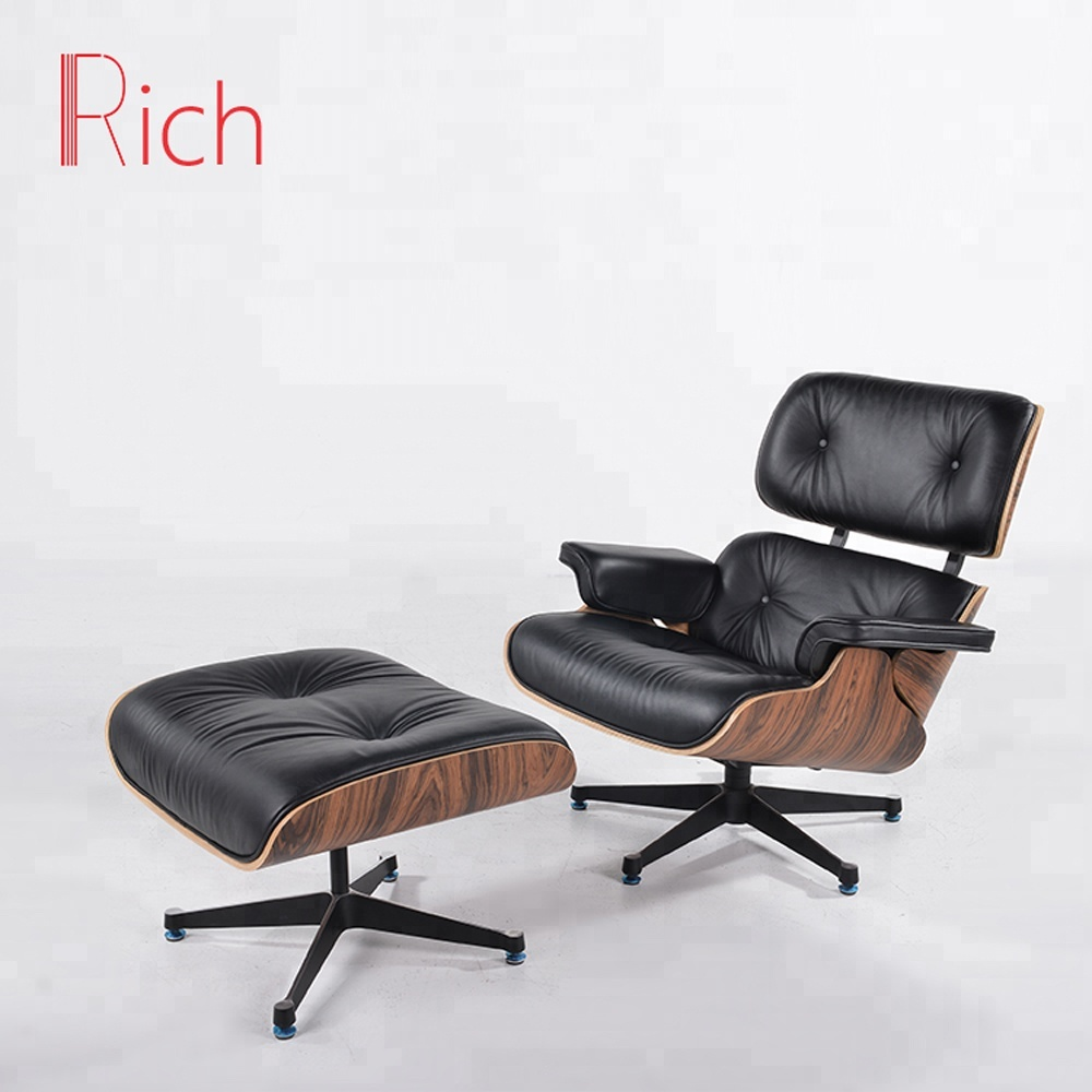 Modern Lounge Chair Comfy Leather Armchair Living Room Leather ...