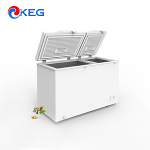 255L Horizontal R134a Refrigerant Gas Glass Door Freezer With Wheel Optional
