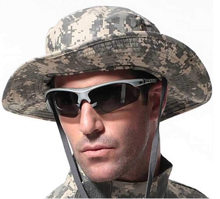Caps A-tacs Tactical Boonie Hat Sunscreen Soldier Cap Camouflage Military Fishing Boonie Tactical Hat