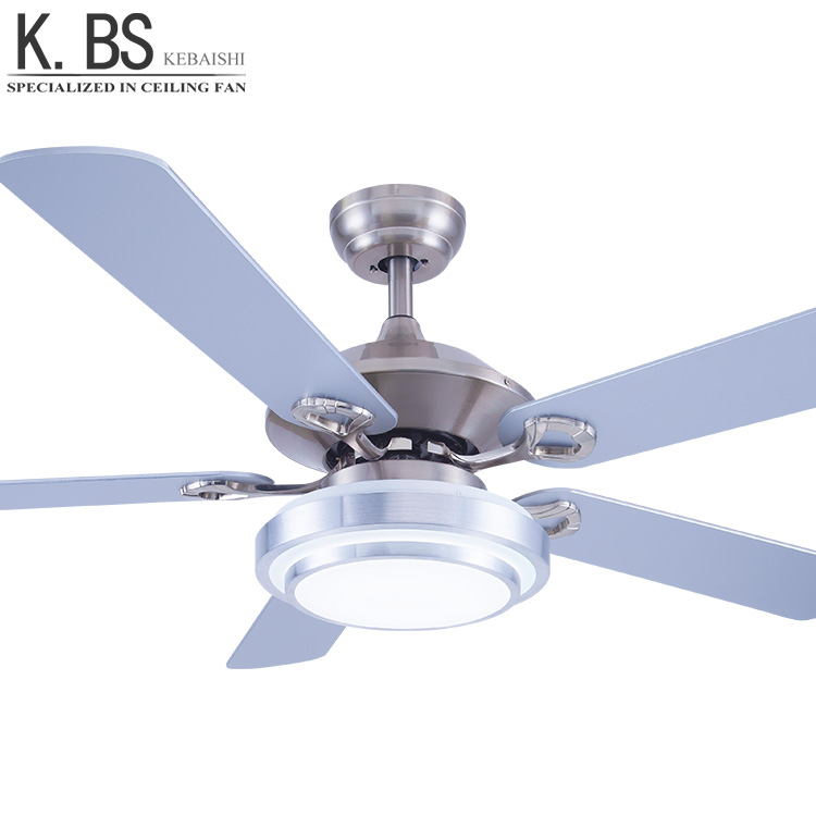 Chinese Ceiling Fans Prices 52inch Concealed Fan Light With Retractable Plywood Blades