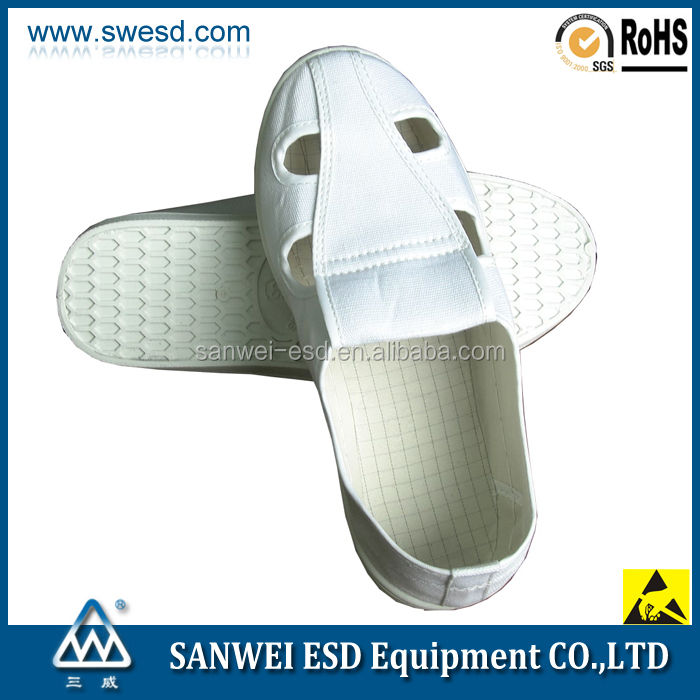 Anti-static PVC Safety Working shoes / ESD Conductive 4-Holes Butterfly Shoes