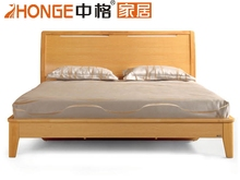 hot sale double bed model oak furniture, wooden furniture on sale