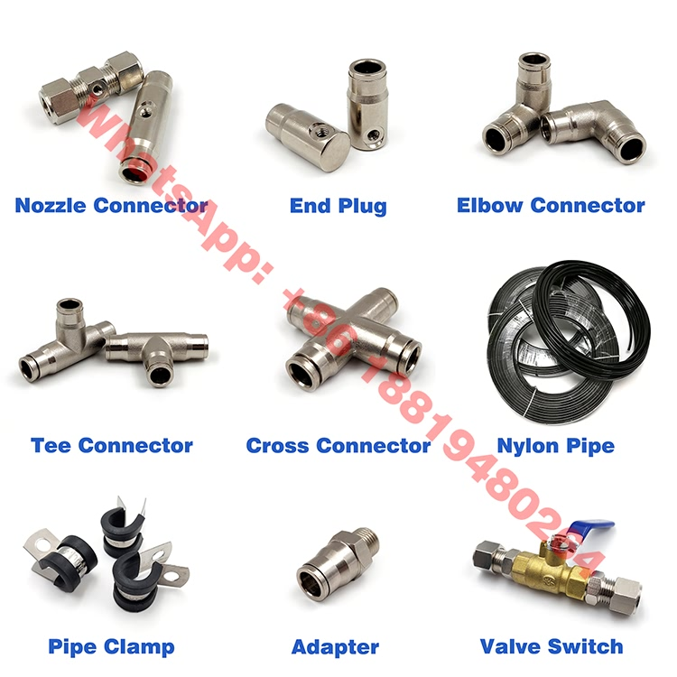YS Cross Union Push-in 4 Way Tube Connector
