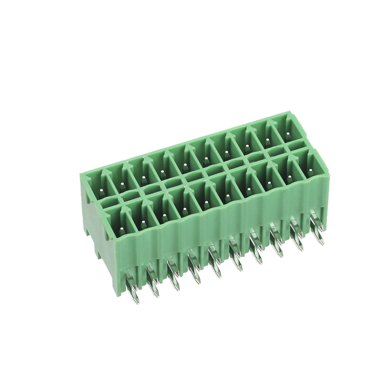 3.50mm pitch female to male adapter dual row conectores plugáveis
