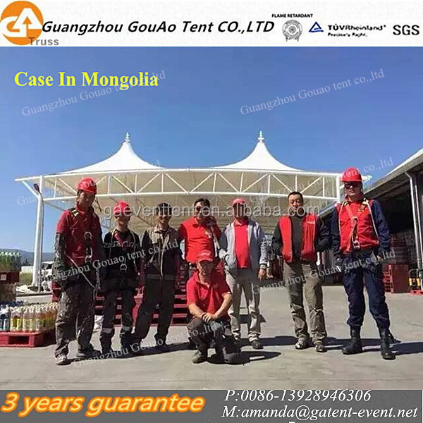 Mongolia Project Use in Factory Gate As Entrace Capony Membrane Structure