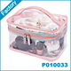 Clear Waterproof Cosmetic Toiletry Bag Travel Necessary PVC Makeup Pouch Case
