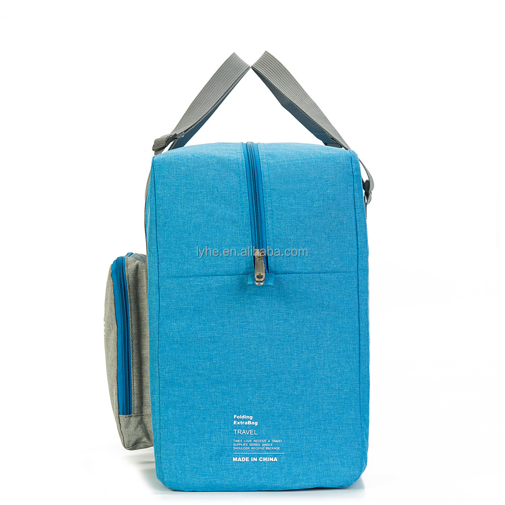 Chinese products sold large capacity polyester foldable duffel bag backpack