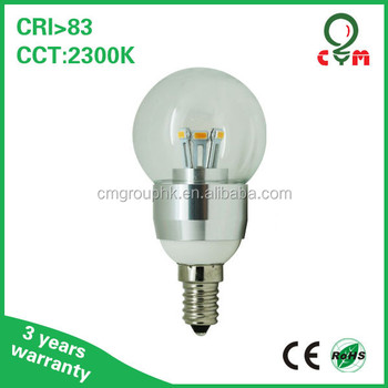3w 4w 5w Dimmable E14 Type B Light Bulb 2700k 3000k