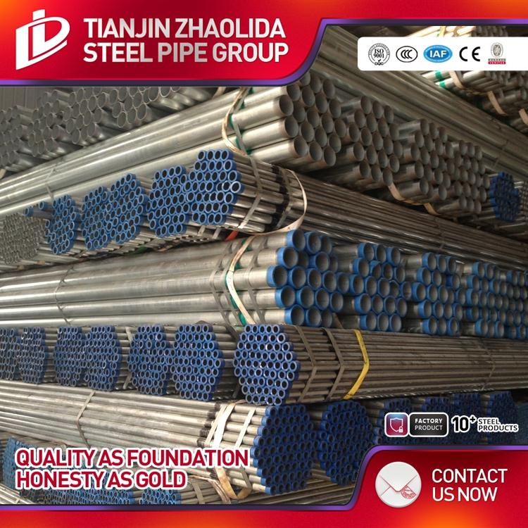 BS1387 SCH 40 60 ERW Tianjin sino sources hot galvanized pipes with best quality for building material