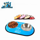 Fashion High Grade Anti Skid Stainless Steel Double Mouth Pet Dog Feeders Bowl