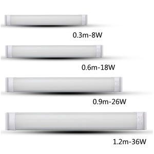 Led Linear Light Fixture 2ft 3ft 4ft 5ft 8ft 18w 22w 36w Led Flat Tube Lights