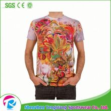 Free Design Digital T-Shirt Printing 3D Sublimation T Shirt Manufacturers