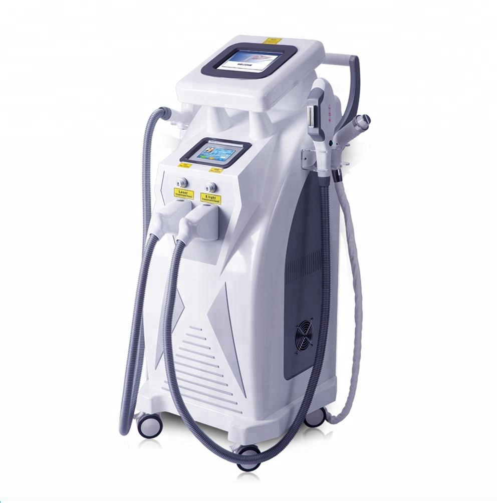 2018 Manufacturer Multifunctional OPT SHR E Light IPL RF Nd YAG Laser 4 in 1 Beauty Machine