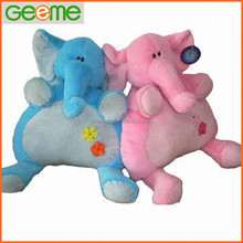 JM7085 Plush Toy Pillows with Blue and Pink Color Elephant
