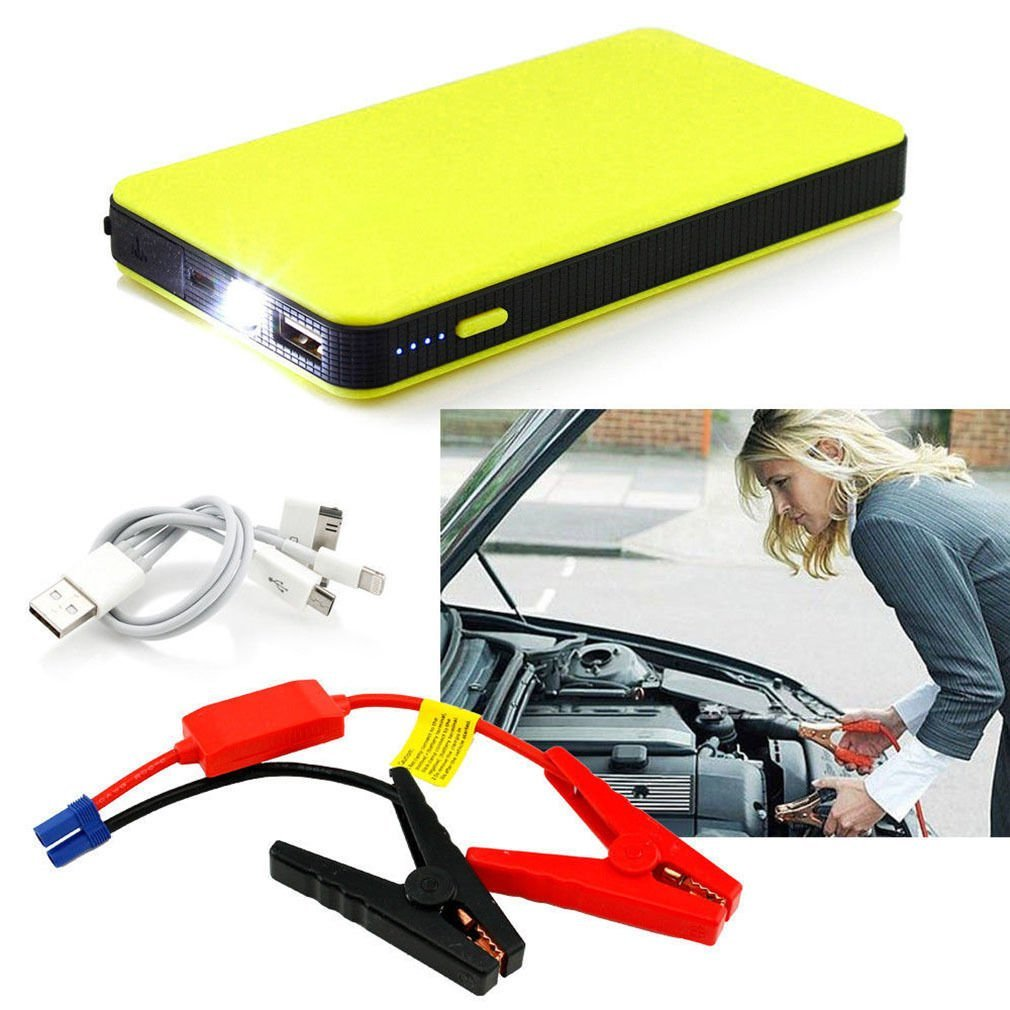 GD2016 Car Jump Starter,Portable Auto Battery Pack Mutli Fuction Car Starter Power Bank with LED Torch (Yellow)