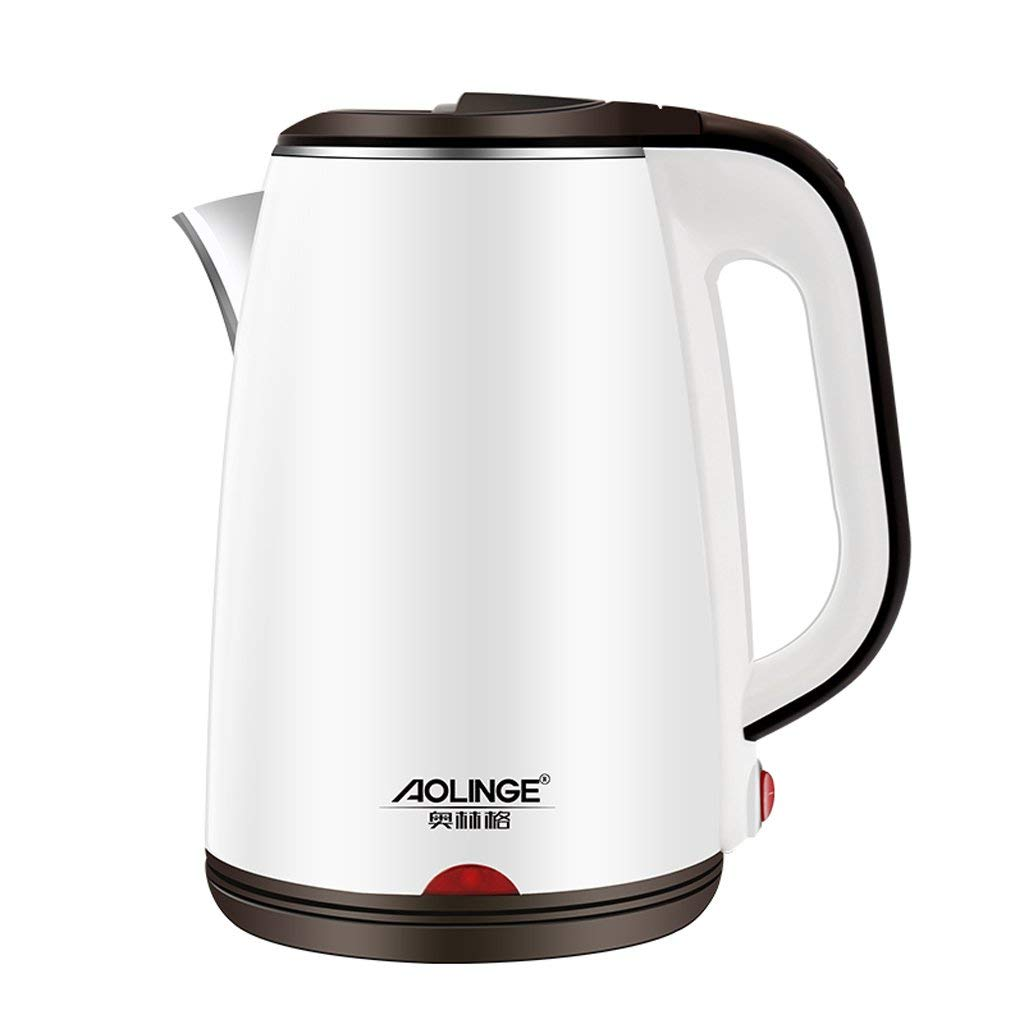 FTM Electric Kettle, 1.8L Household Insulation Kettle - Automatic Power Off, 304 Stainless Steel Electric Kettle (white)