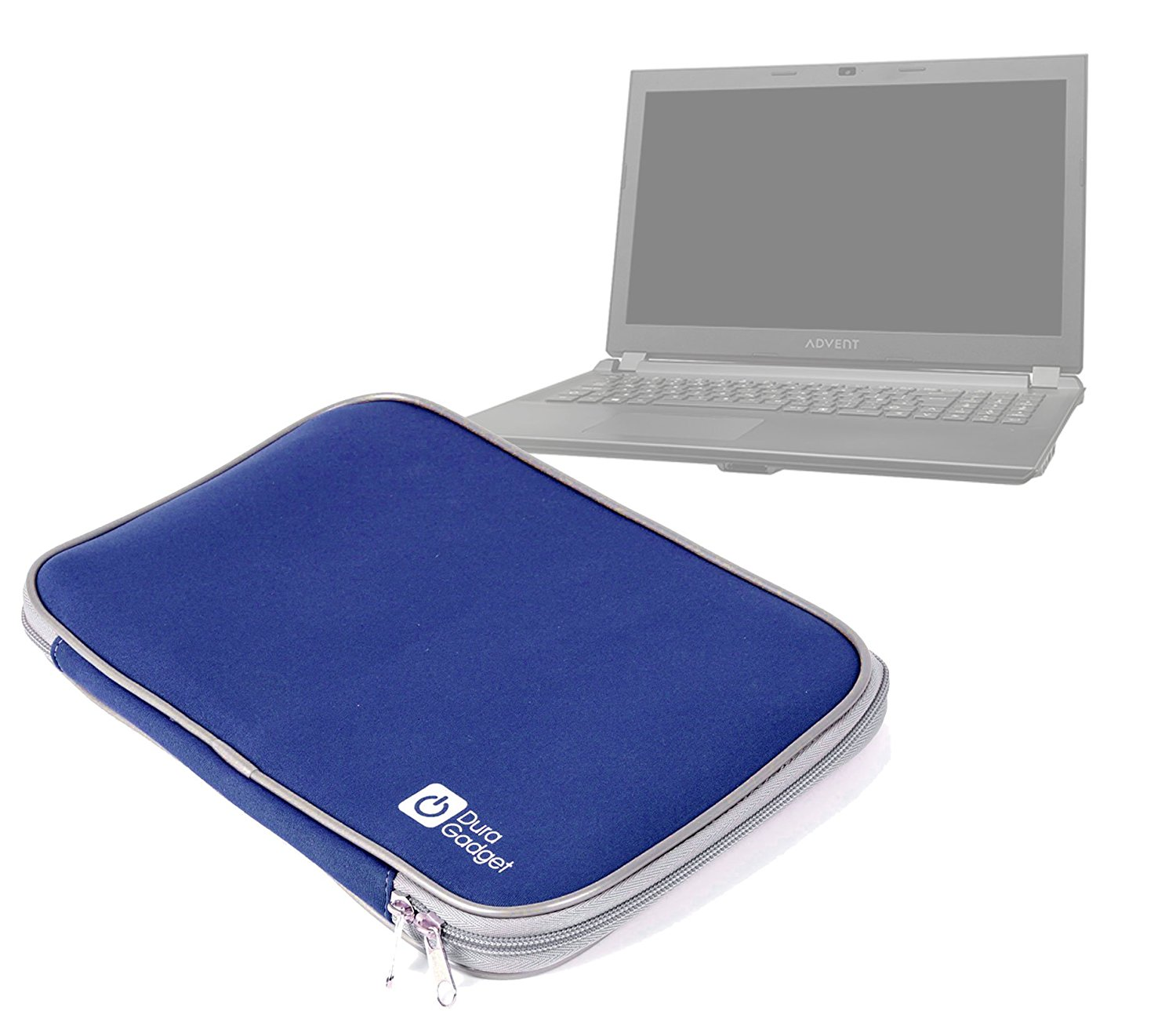 DURAGADGET Shock Proof & Water Resistant Deep Blue 16 Inch Neoprene Laptop Carry Case For Advent Torino X500, Advent Torino X200, Advent Torino X100, HP Pavilion 15-n083sa & Asus Zenbook U500VZ