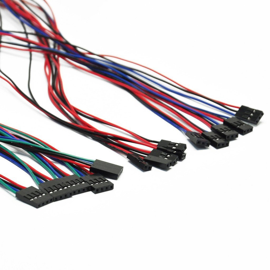 Gikfun 70cm 2pin 3pin 4pin Female to Female Dupont Cable Jumper Wire for Arduino (Pack of 15pcs) EK8439