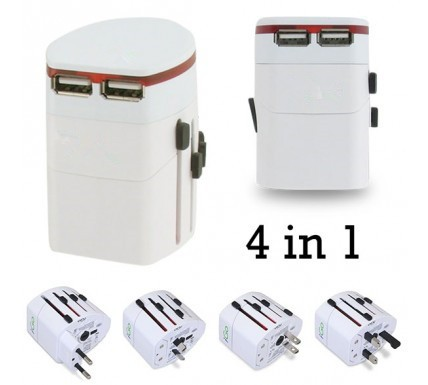 universal travel socket,universal travel adapter with dual usb part,2.1A/1A conversion adapter