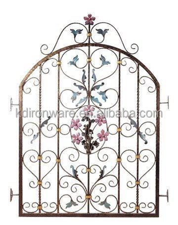 flores decorativas de metal diseño de la ventana de hierro forjado