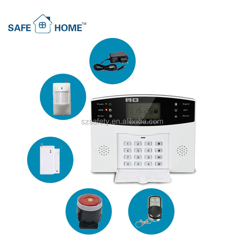 <strong>gsm</strong>+pstn dual network home security app alarm system k4