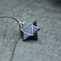 Lovely natural crystal merkaba star crystal Merkaba pendant for gift
