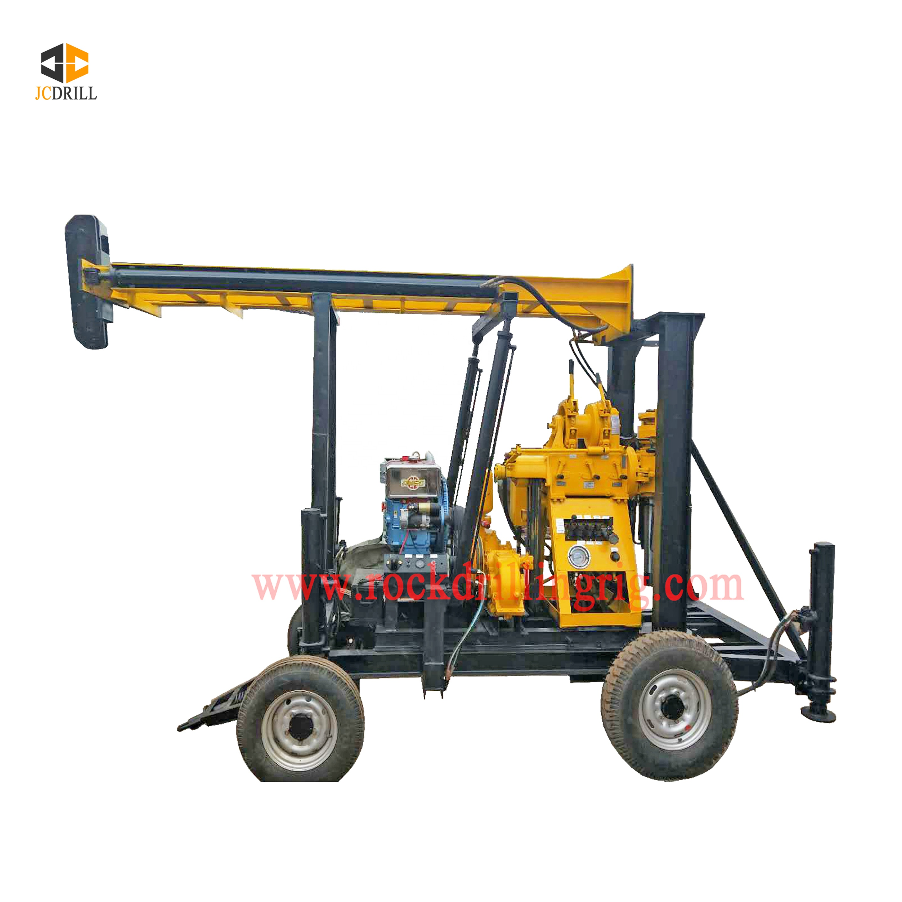 Cheap price 200m depth trailer mounted Water Well Drill Rig for sales