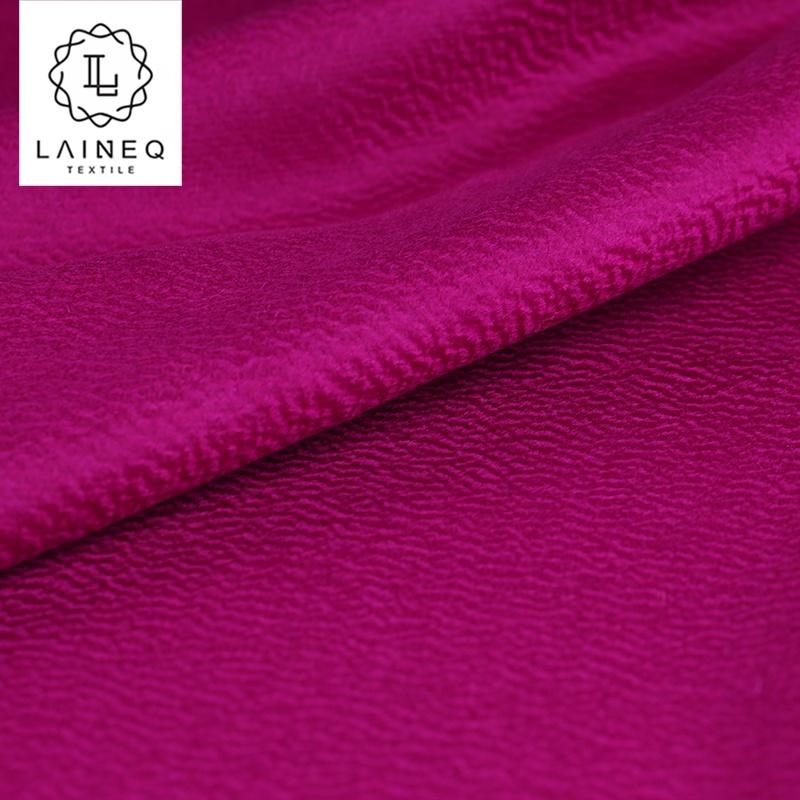 ripple wool effect double sided 100% lambs wool fabric coat