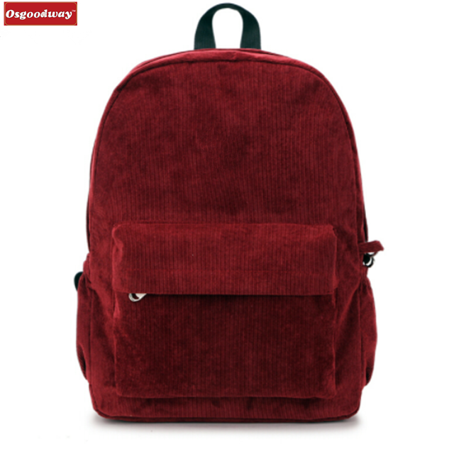 Osgoodway Hot Sale Korean Style Girls School Backpack Bag for Campus Students