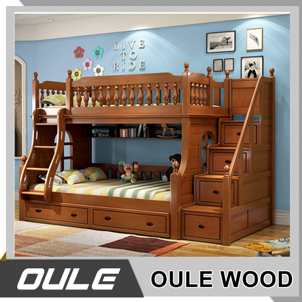Wooden Double Bunk Bed Over Beds Very