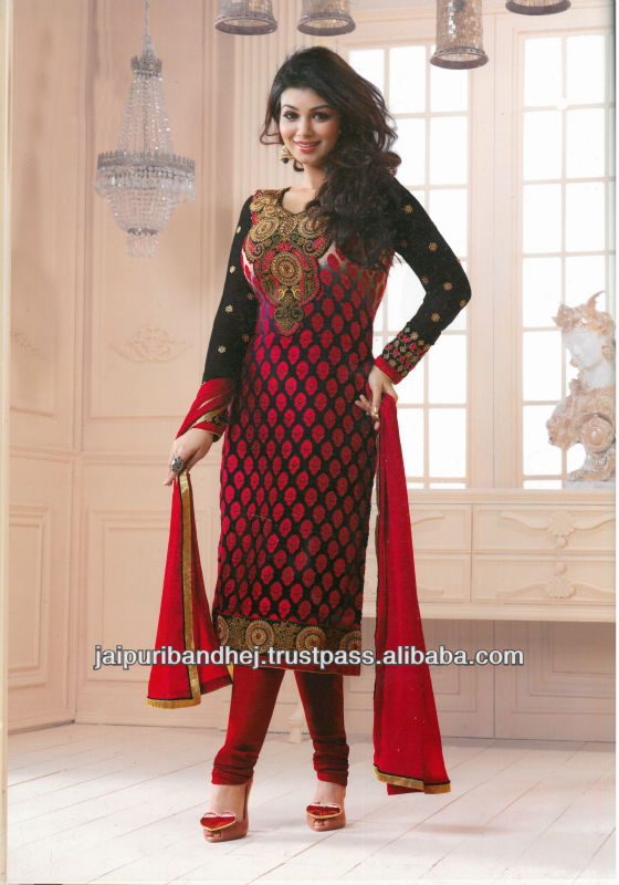 New Unique Bollywood Designer Casual Wear Salwar Suits For Girls ...