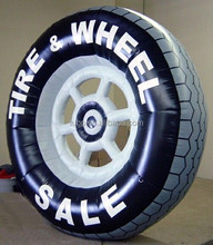 OEM inflatable large car tyre / inflatable advertising car tyre