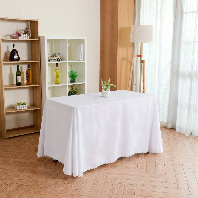 Hotel solid color plain BM tablecloth rectangular table tablecloth banquet conference table skirt
