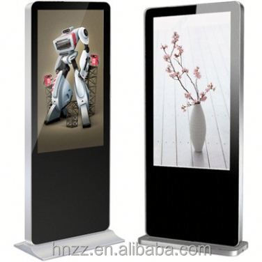 50 55 inch advertising video monitor LCD totem touch screen player display kiosk prices
