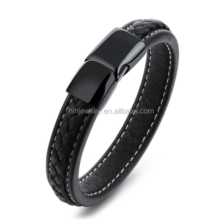 Latest Cool Stuff Simple Design Bracelet For Girls Cowhide Bracelet Stainless Steel Buckle Bracelet