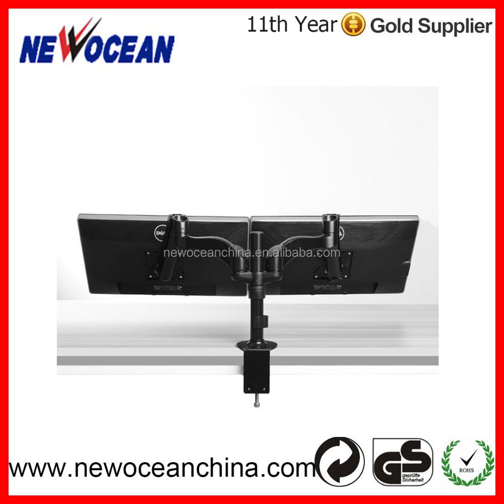 2016 New Ergonomic Steel Dual Lcd Vesa Monitor Stand Screen Desk ...