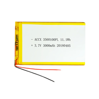 3560100 lithium polymer battery with pcm backup 3000mah tablet pc battery