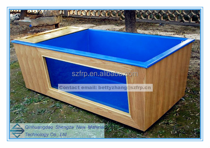 Frp fish tank fiber glass fish pond fish stock tanks buy for Large fish ponds for sale