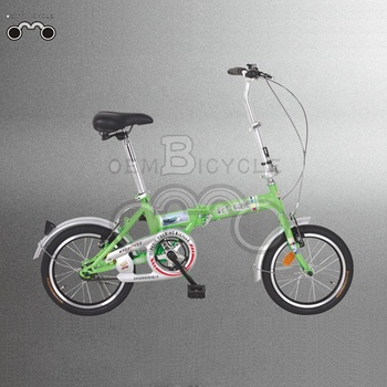 Men's 16inch single speed steel frame origin mini folding bicycle