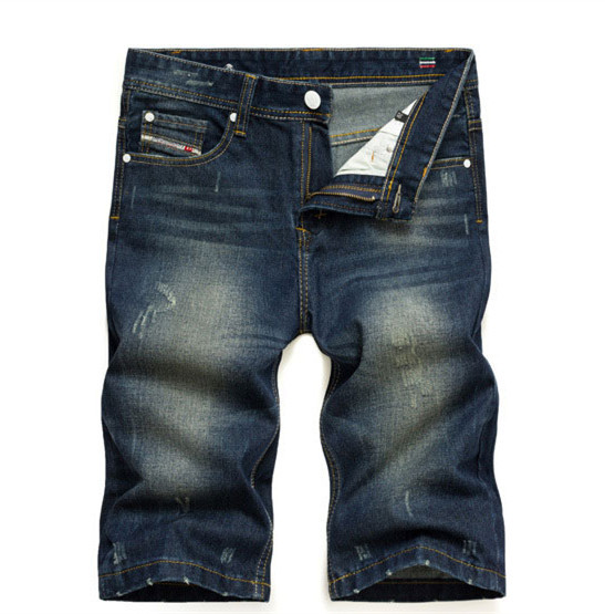 Famous AD Brand Men Shorts Jeans,Zipper Fly Disel Jeans shorts 100% Cotton Denim Printed Jeans For Men Summer Style 9003-1A
