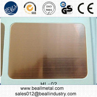 mirror polished brass stainless steel sheet